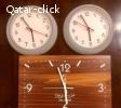 1 Big GLOW IN DARK sweeping clock and 2 smaller clocks