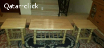 3 طاولات خشبيه بحاله ممتازة