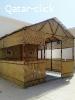 بناء المنزل من خشب الخيزران