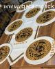 مفرش طاوله و٦ قطع تحت الصحون