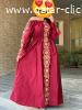 فستان خيط هندي مع تطريز تفتة